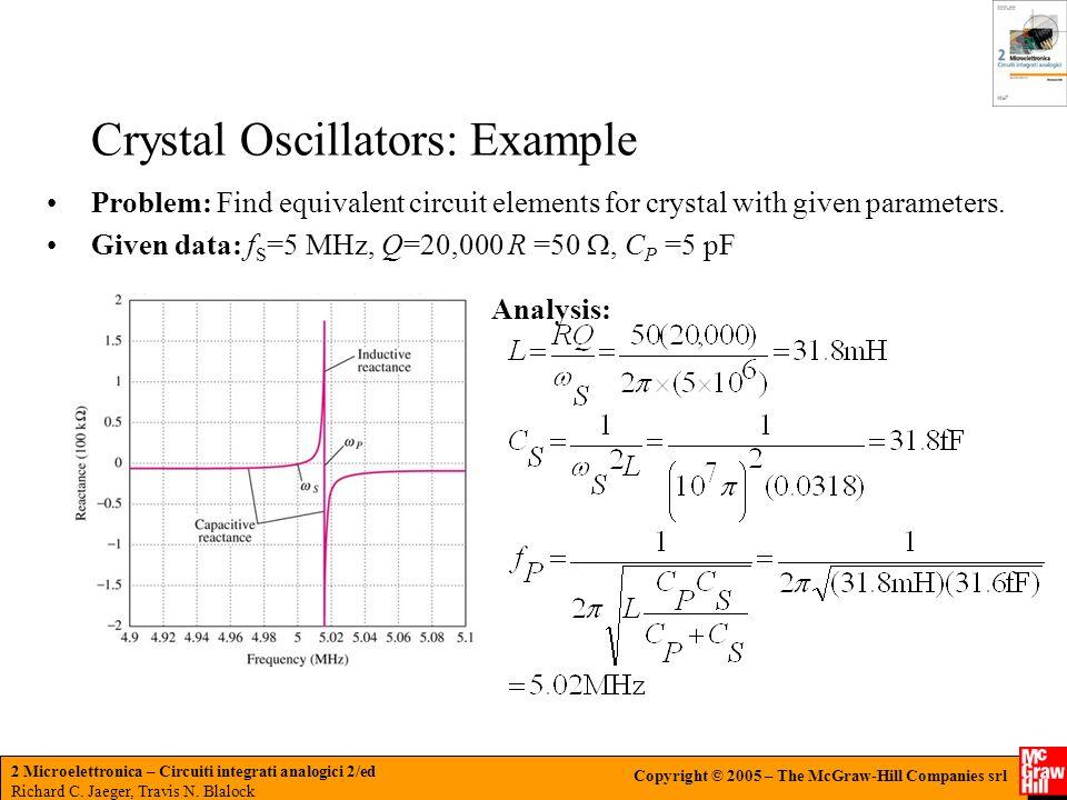 Crystal Oscillators: Example