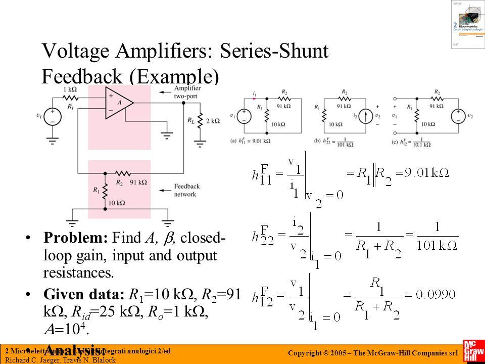 Voltage Amplifiers: Series-Shunt Feedback (Example)