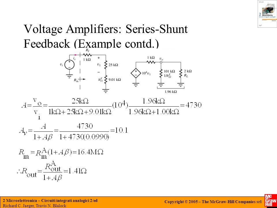Voltage Amplifiers: Series-Shunt Feedback (Example contd.)