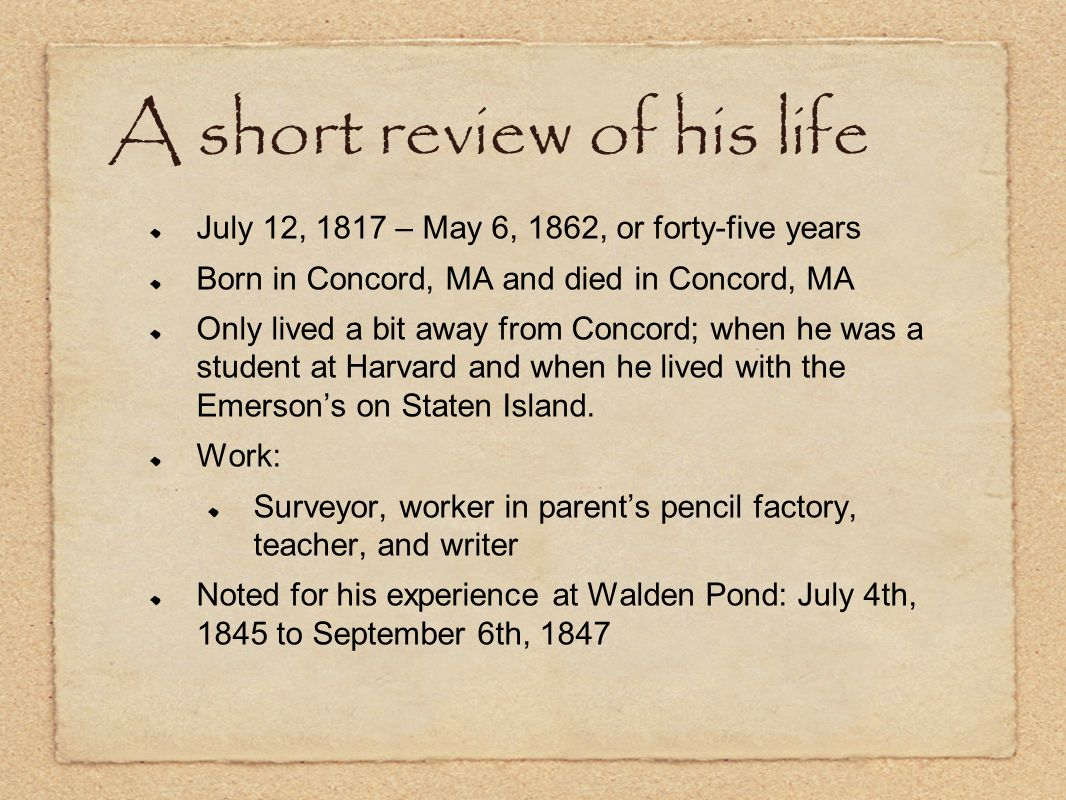 A short review of his life