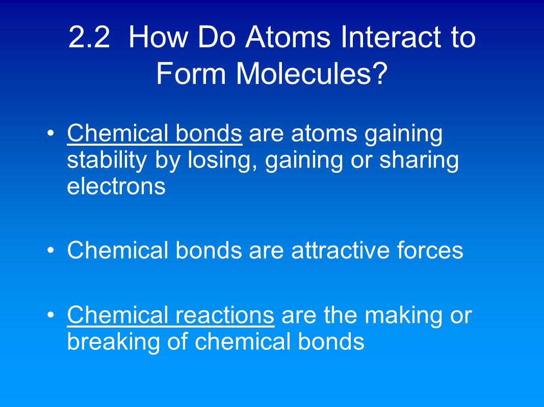 Chapter 2 – Atoms, Molecules and Life - ppt download