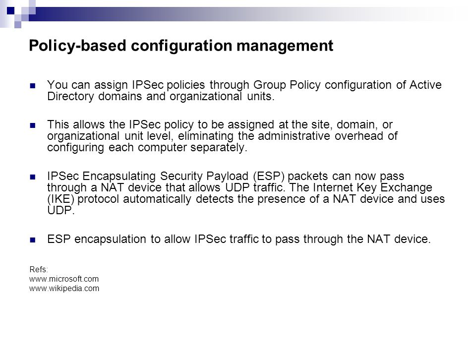 Policy-based configuration management