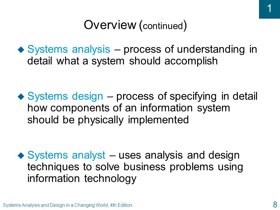 an overview of a computer systems analyst How to become a computer systems analyst most computer systems analysts tend to have a bachelor's degree a business degree with a concentration in computer information systems is a good idea, although some employers may hire candidates with other degrees and it skills, according to the bls.