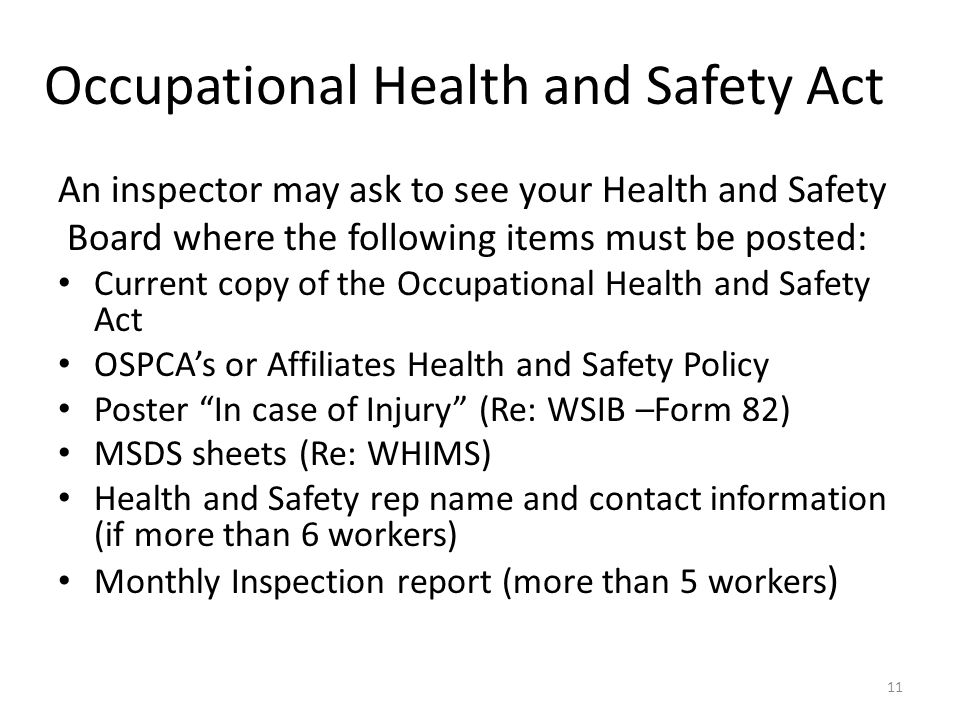 occupational safety and health and inspection Safety audit both are important components of a workplace safety plan   article: why do i need a health and safety inspection checklist how to pass an .