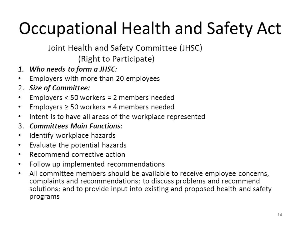 ontario health and safety act pdf