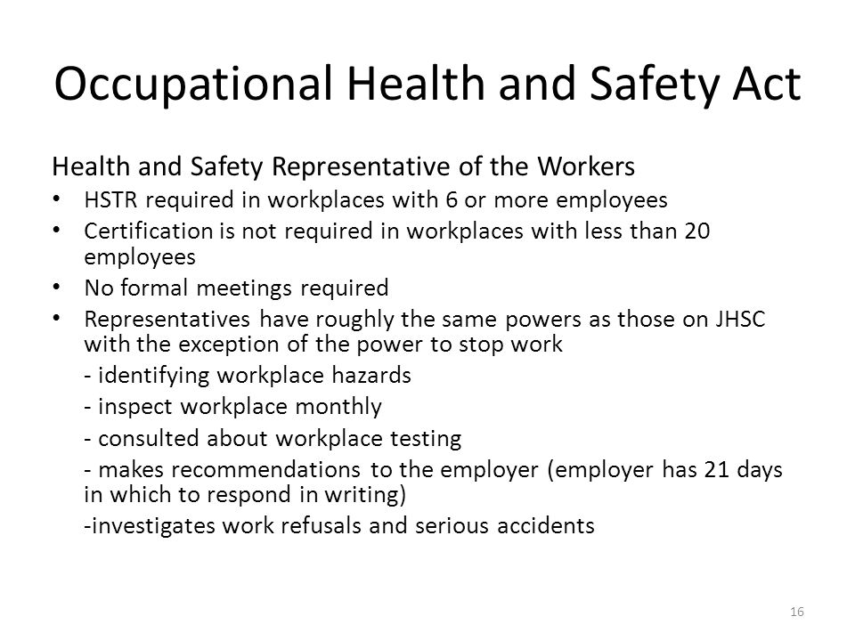 health and safety at work act essay Health assignments essay writing services help on occupational health and safety / rules & regulations / employee morale and performance question.