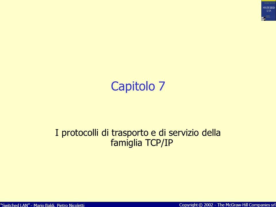 I protocolli di trasporto e di servizio della famiglia TCP/IP