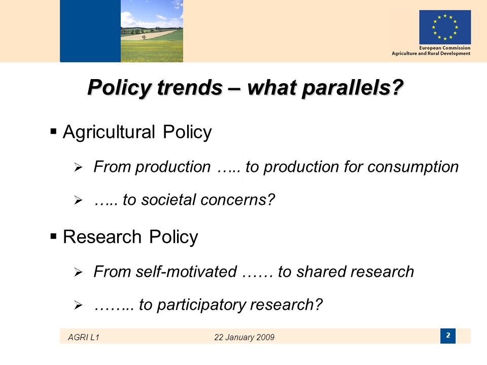 Policy trends – what parallels