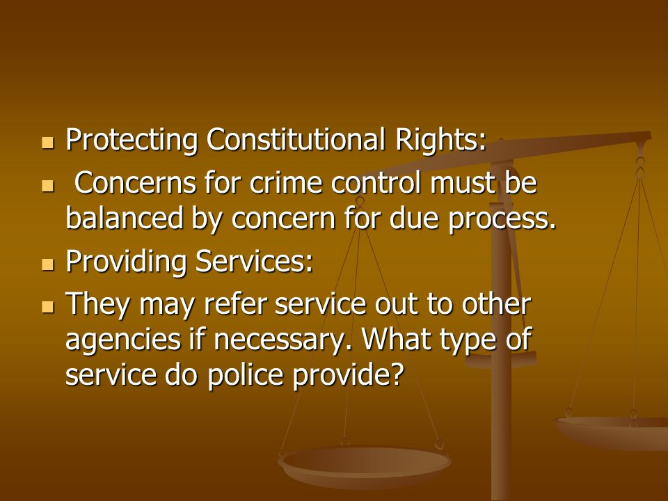 Protecting Constitutional Rights: