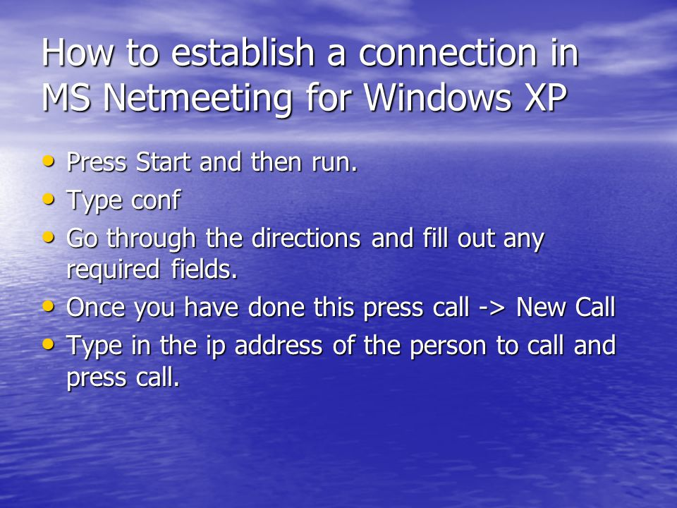 net meeting download for xp Pcclean is an easy to use software designed to take tasks from their various locations in windows and combine them in one easy to use, lightweight java application.