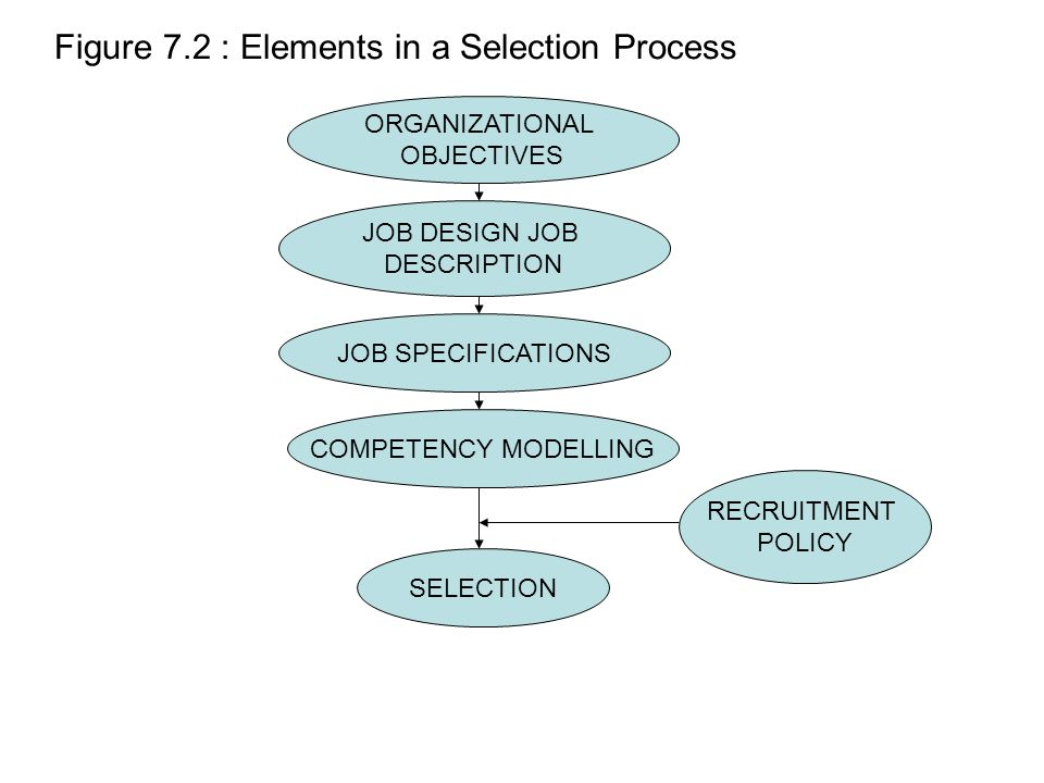 Figure 7.2 : Elements in a Selection Process
