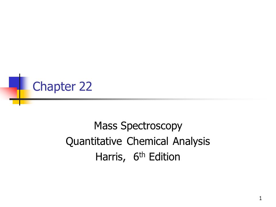 Mass Spectroscopy Quantitative Chemical Analysis Harris Th Edition