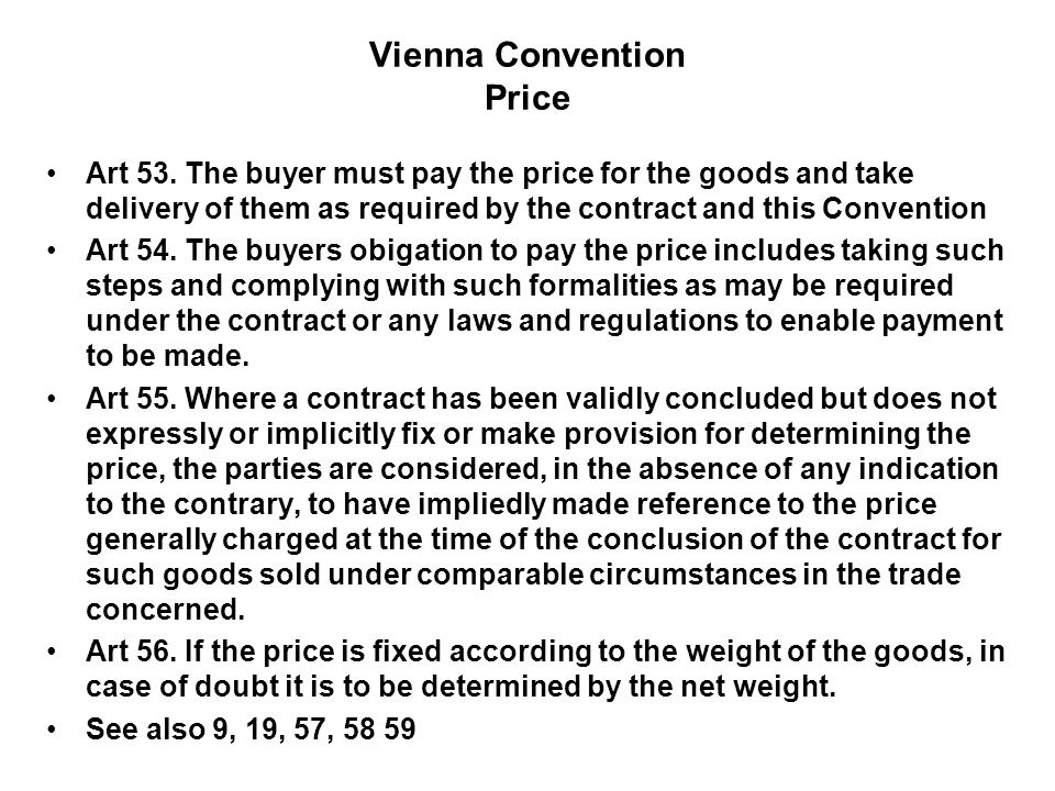 Vienna Convention Price
