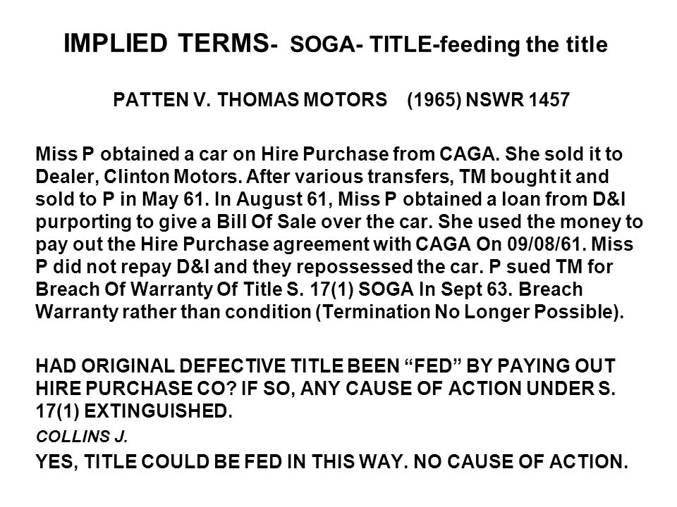 IMPLIED TERMS- SOGA- TITLE-feeding the title