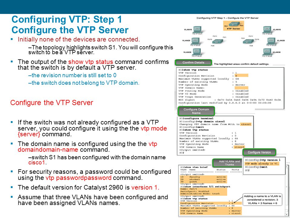 how to set vtp domain name