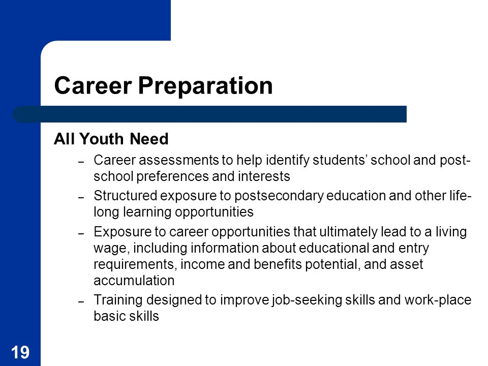 Career Preparation All Youth Need