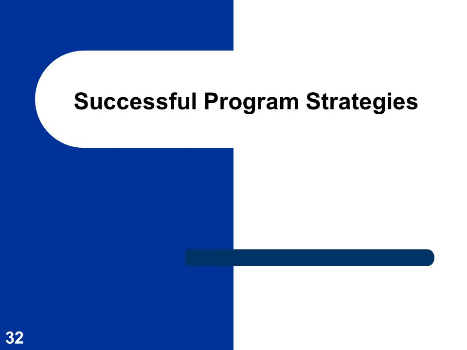 Successful Program Strategies