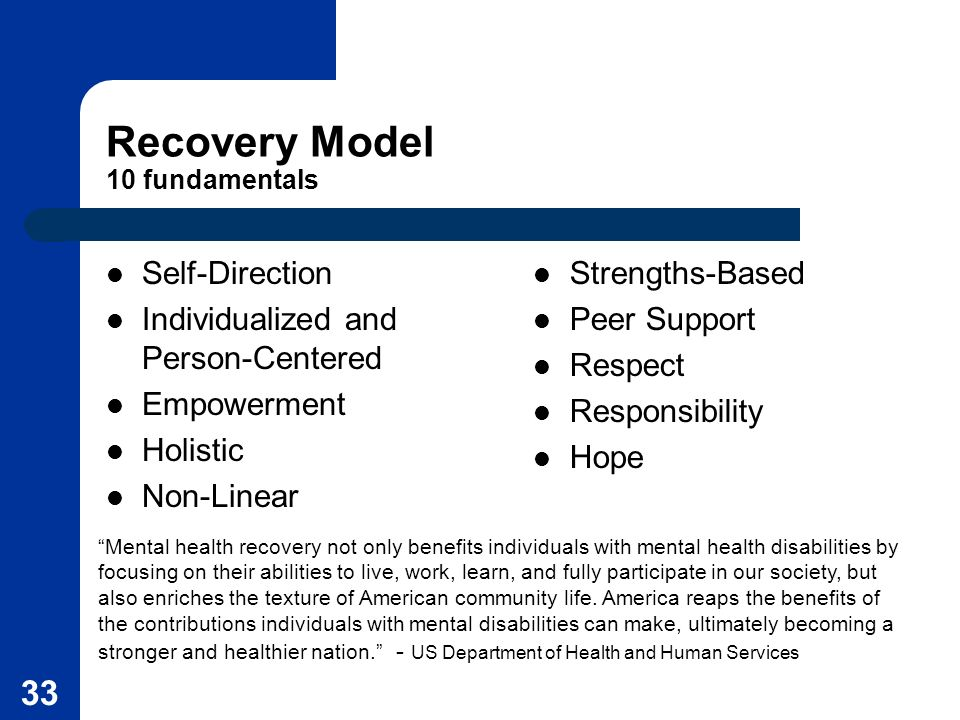 Recovery Model 10 fundamentals
