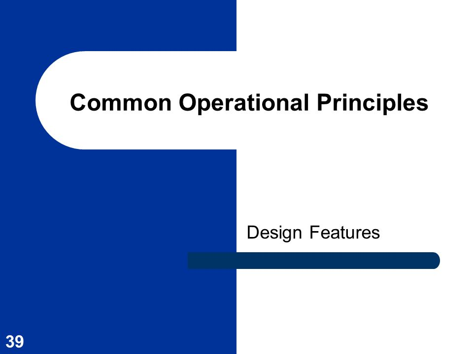 Common Operational Principles