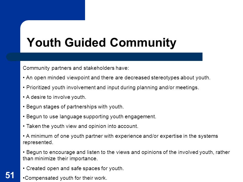 Youth Guided Community