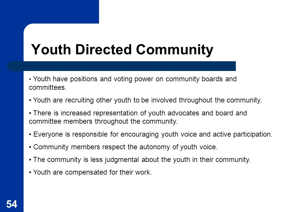 Youth Directed Community
