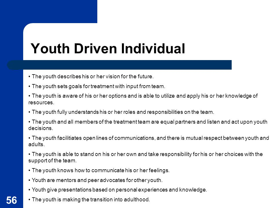 Youth Driven Individual