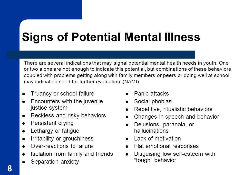Signs of Potential Mental Illness