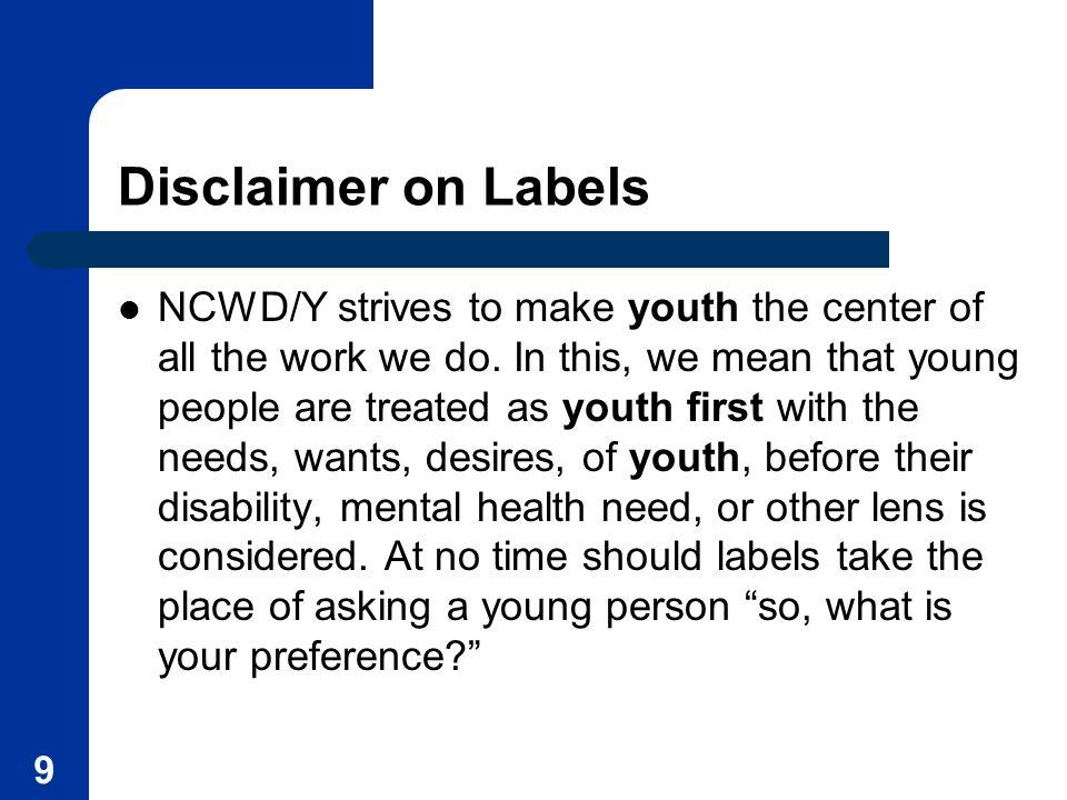 Disclaimer on Labels