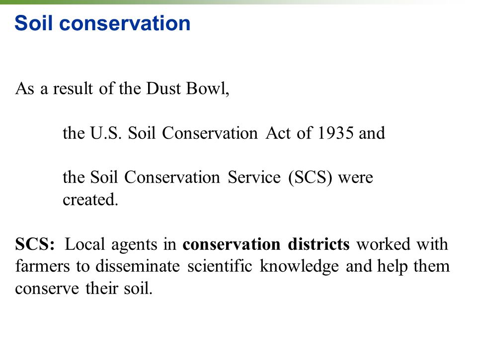 Soils agriculture and the future of food ppt download for Soil conservation act