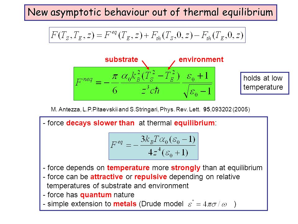New asymptotic behaviour out of thermal equilibrium