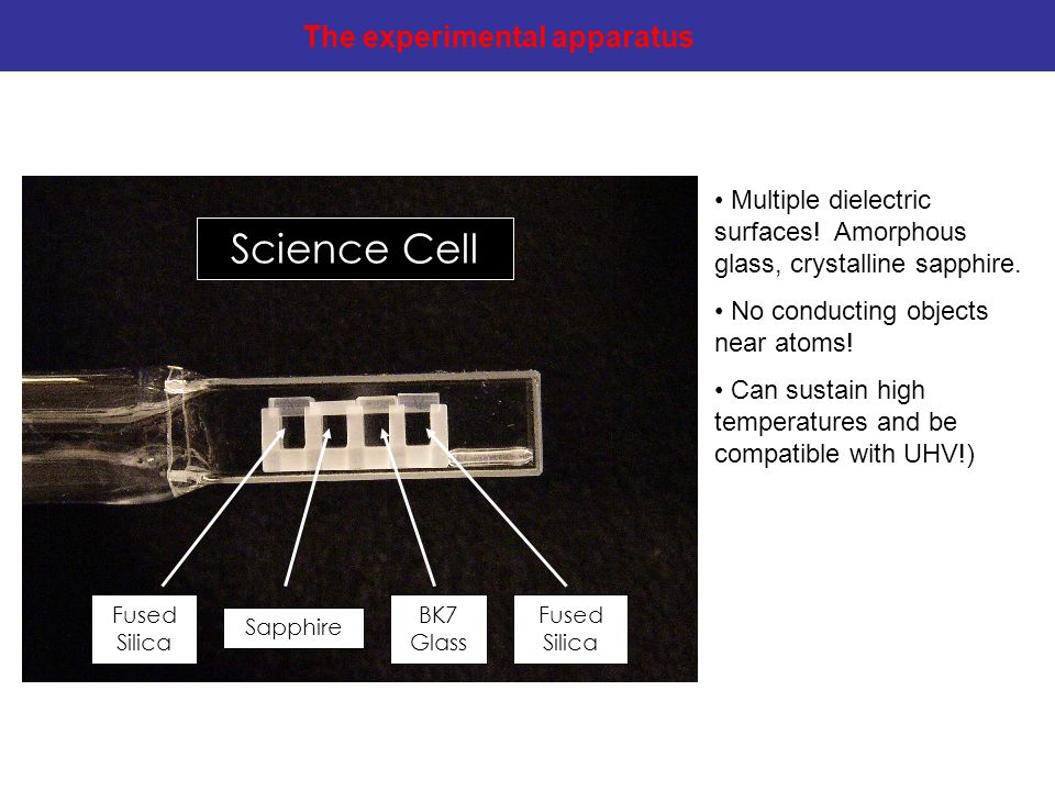 Science Cell The experimental apparatus