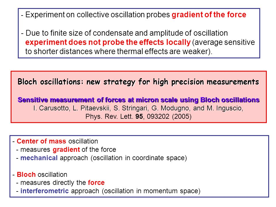Bloch oscillations: new strategy for high precision measurements