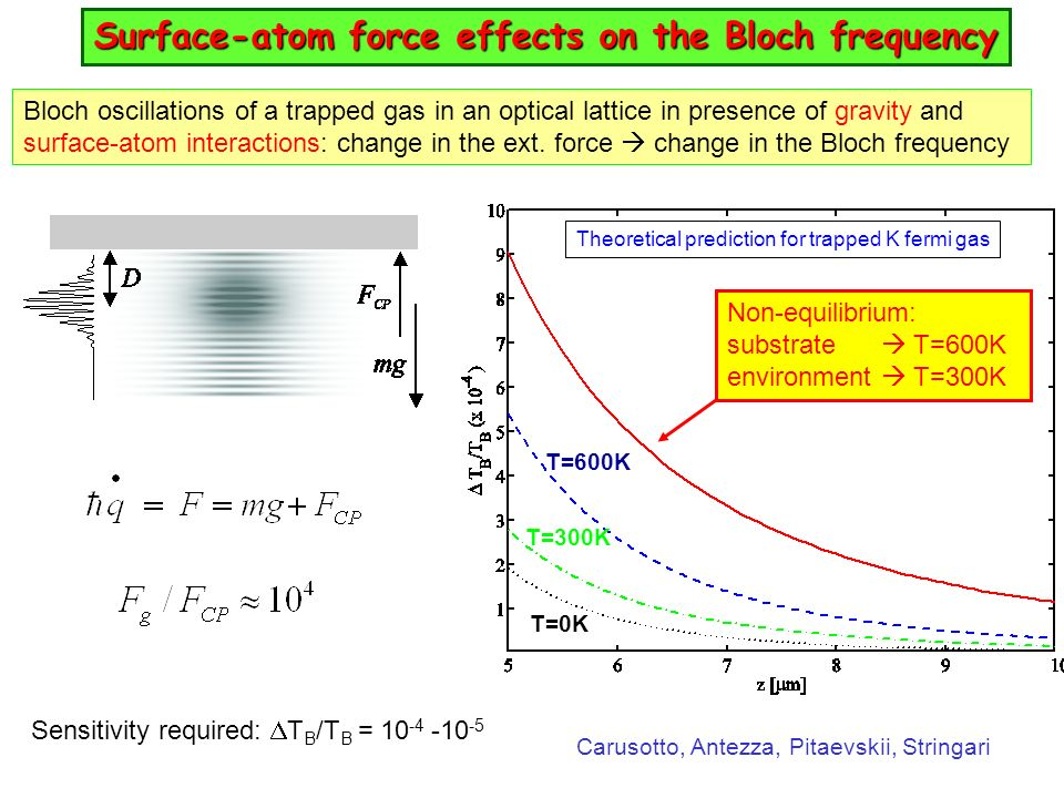 Surface-atom force effects on the Bloch frequency