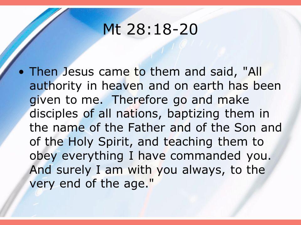 Mt 28:18-20