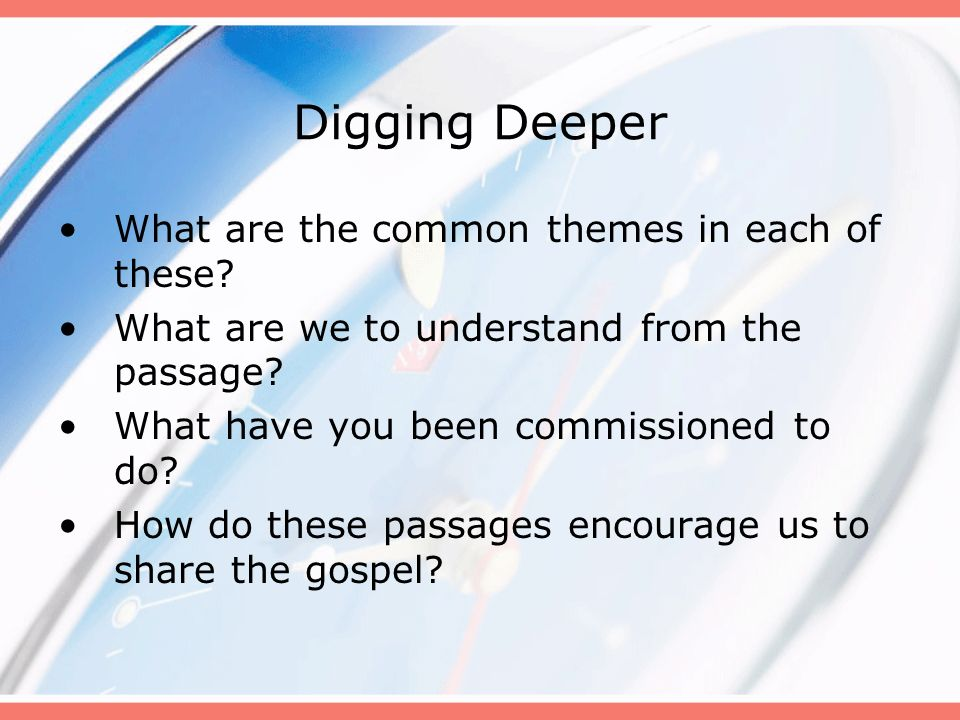Digging Deeper What are the common themes in each of these