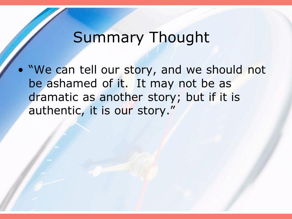 Summary Thought
