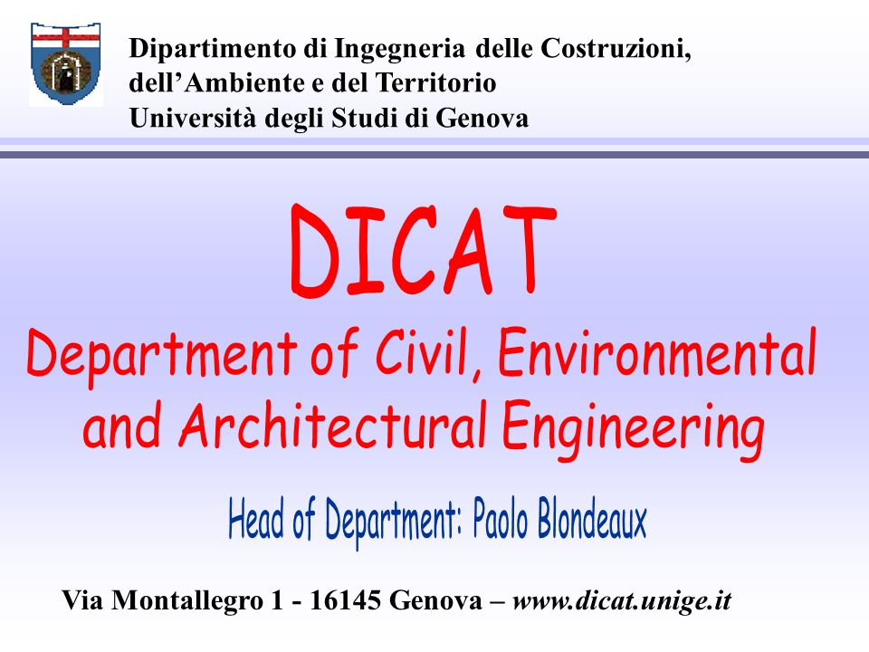 Department of Civil, Environmental and Architectural Engineering