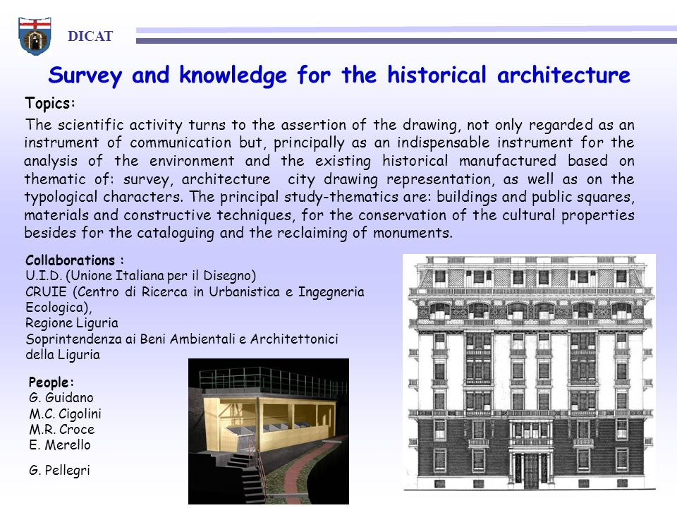 Survey and knowledge for the historical architecture