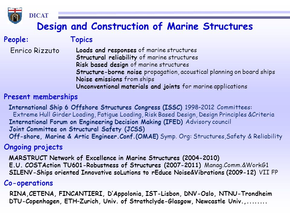 Design and Construction of Marine Structures