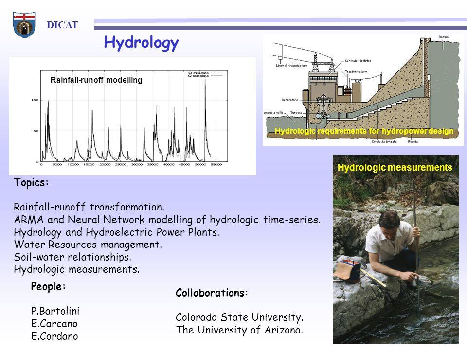 Hydrology Topics: Rainfall-runoff transformation.