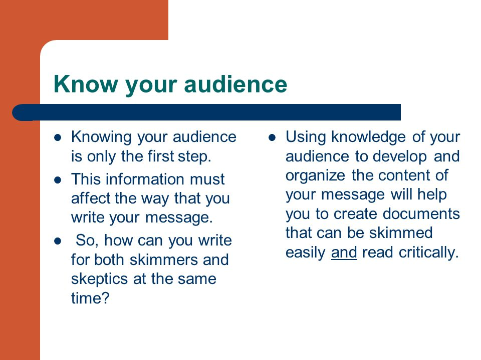 The Importance of Knowing Your Audience in the e-business World