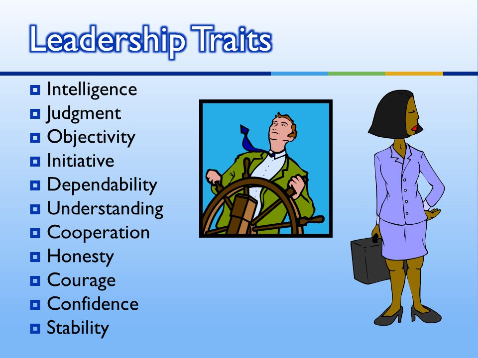 Leadership Traits Intelligence Judgment Objectivity Initiative