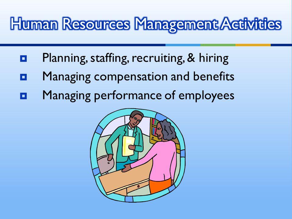 Human Resources Management Activities