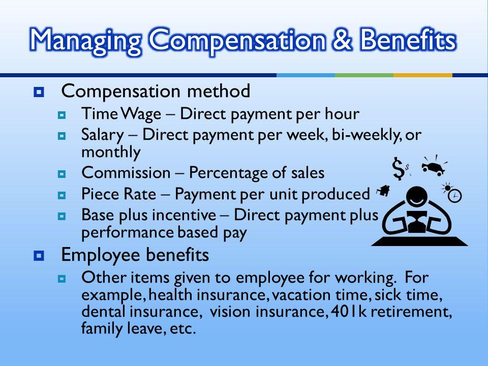 Managing Compensation & Benefits