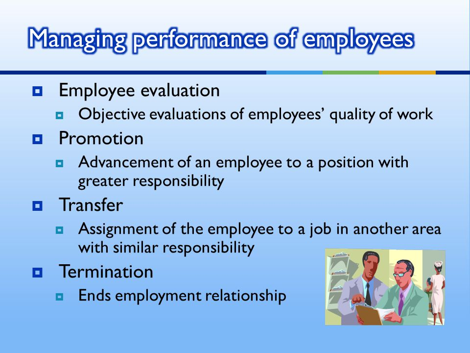 Managing performance of employees