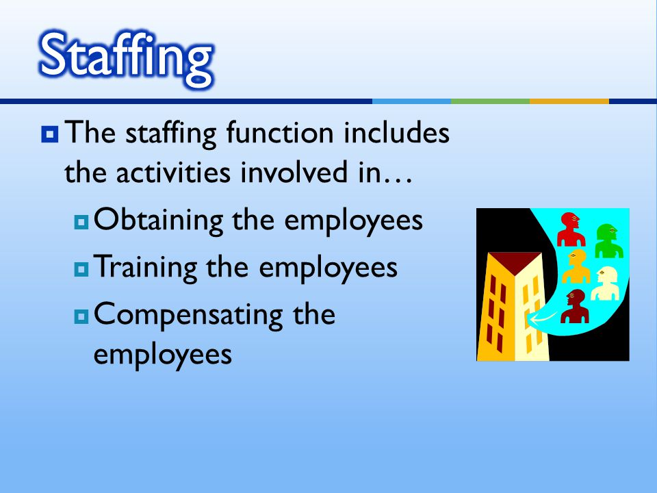 Staffing The staffing function includes the activities involved in…