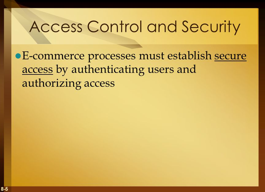 Access Control and Security