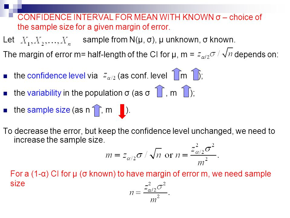 Let sample from N(μ, σ), μ unknown, σ known. - ppt download