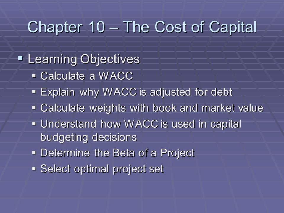 the cost of capital wacc Hi guys, this video will teach you a simple example how to calculate the wacc weighted average cost of capital thanks for learning wwwi-hate-mathcom.