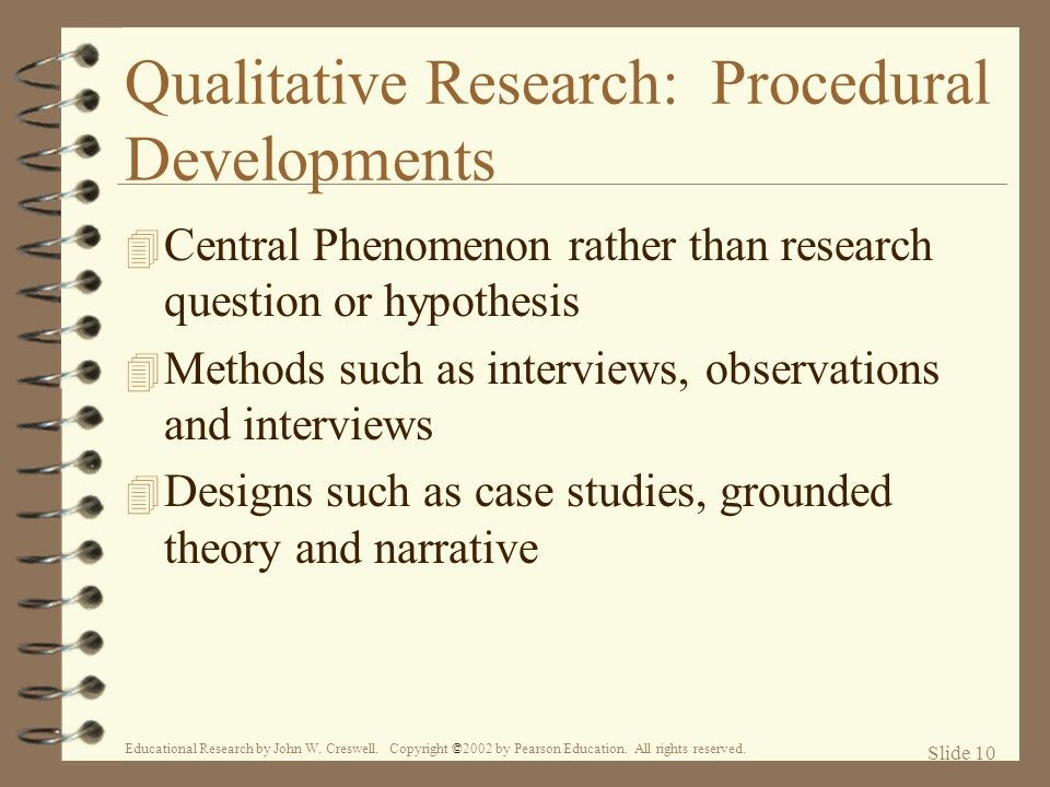 Qualitative Research: Procedural Developments